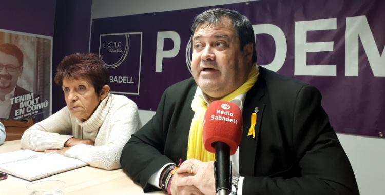 Ramon Vidal ha estat secretari general de Podem a Sabadell durant tres anys/ Karen Madrid