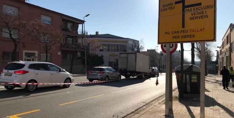El passeig Can Feu ahir al matí | Mireia Prat