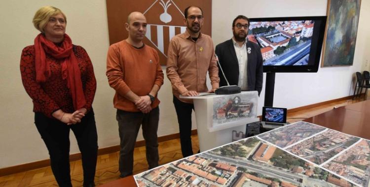 Serracant i els tinents d'alcalde han presentat avui la resolució de la Caserna/ Roger Benet