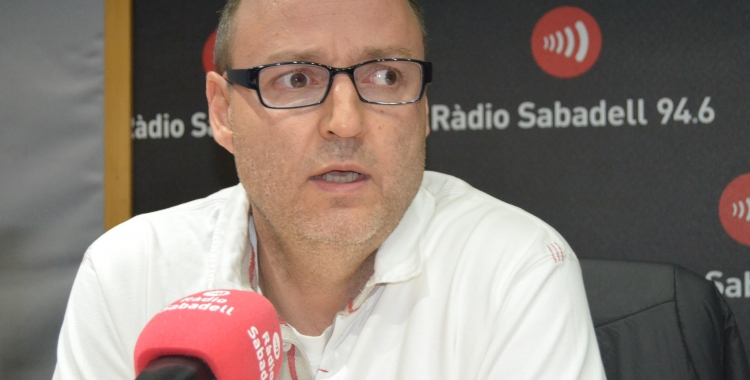 Antoni Reguant, als estudis de Ràdio Sabadell   Arxiu RS