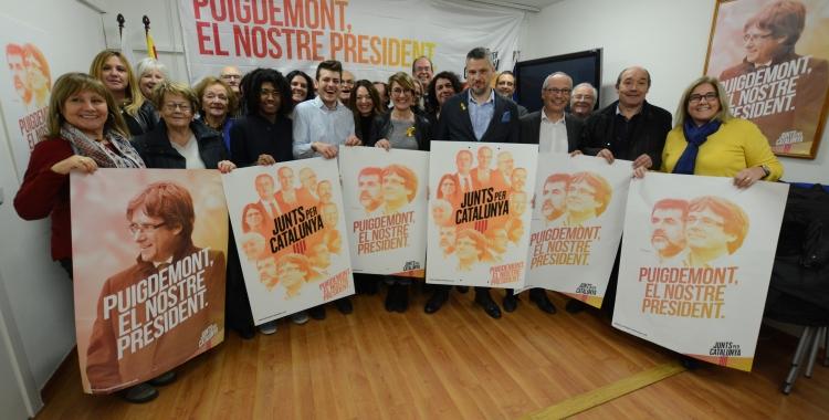 Membres del PDeCAT durant la presentació de la campanya del 21-D | Foto: Roger Benet