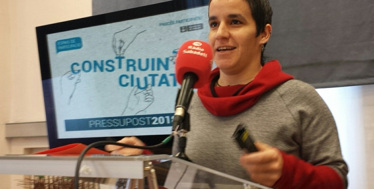 Glòria Rubio presentant els resultats | Pau Duran