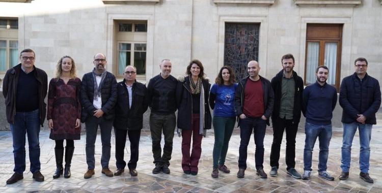 Participants de la reunió.   Foto: Ajuntament de Barcelona