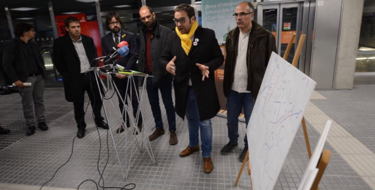 Ajuntament i el departament de Territori han presentat les obres de soterrament de Can Feu Gràcia. Foto: Roger Benet