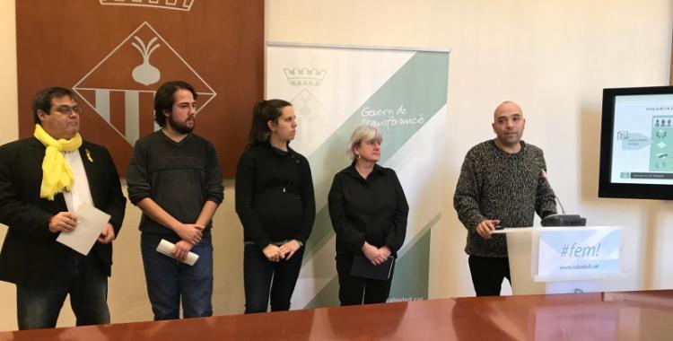 El tinent d'alcalde, Joan Berlanga, ha presentat els pressupostos de 2018 amb tots els regidors de l'àrea.