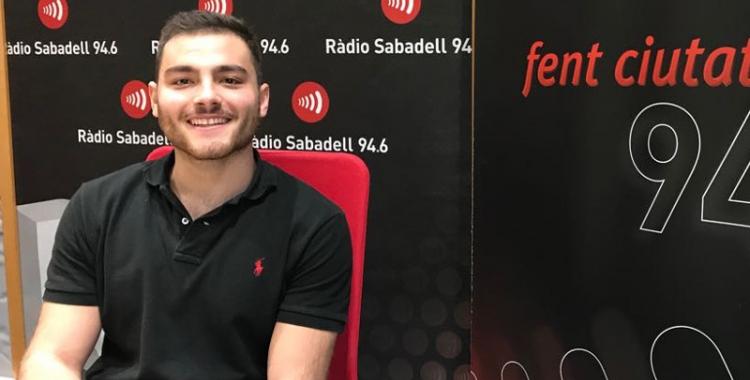 Quim Vaíllo ahir als estudis de Ràdio Sabadell