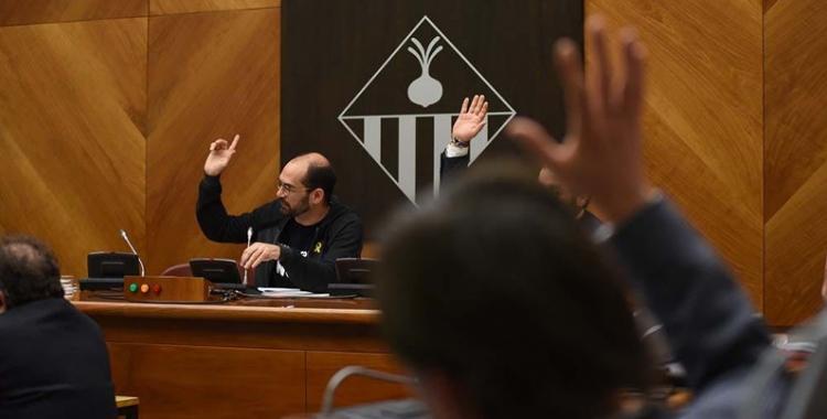 El ple ha debatut sis mocions però només se n'ha aprovat una/ Roger Benet