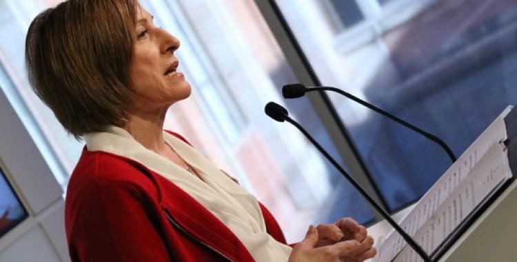 Forcadell durant la compareixença al Parlament de Catalunya.   Foto: ACN