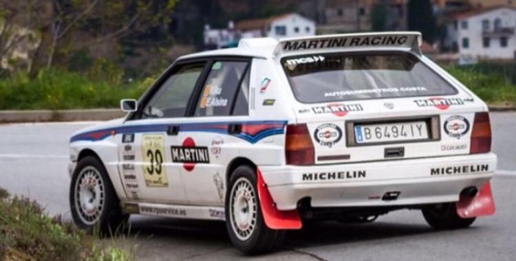 Kiku Rosado amb el seu Lancia   Kiku Rosado