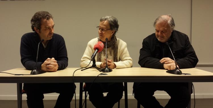 El moment en que s'ha anunciat el premi a la roda de premsa   Pau Duran