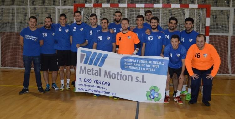 La idea de fer un torneig dedicat a Sergi Estrada (esquerra) ha sorgit de la plantilla del Pau Casals   BM Pau Casals