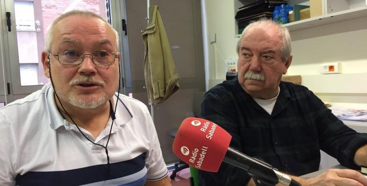 Jordi Molins i Manuel Navas durant la roda de premsa de la Coordinadora del Moviment Veïnal del Vallès | Ràdio Sabadell