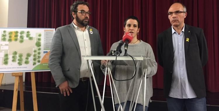 Fernàndez, Rubio i Guerrero durant la roda de premsa | Ràdio Sabadell