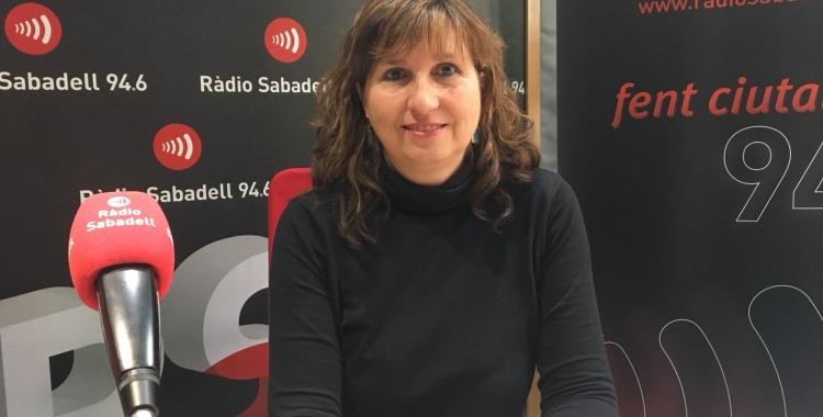 Anna Catón a l'estudi de Ràdio Sabadell   Mireia Sans