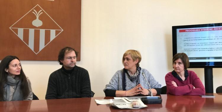 La regidora d'Esports, Marisol Martínez, ha presentat el projecte al costat de les entitats que hi col·laboren.