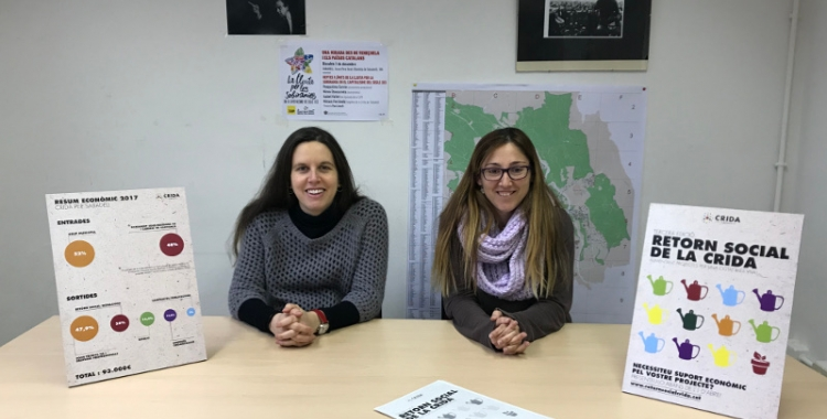 La regidora Míriam Ferràndiz i la portaveu de la Crida Sandra Alcaide han presentat la tercera edició del retorn social.