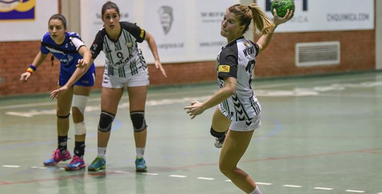 Miriam Moreno en un partit d'aquesta temporada