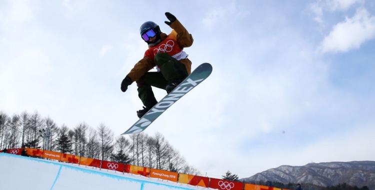 Queralt Castellet en acció a l'snowpark de PyeongChang   JJOO
