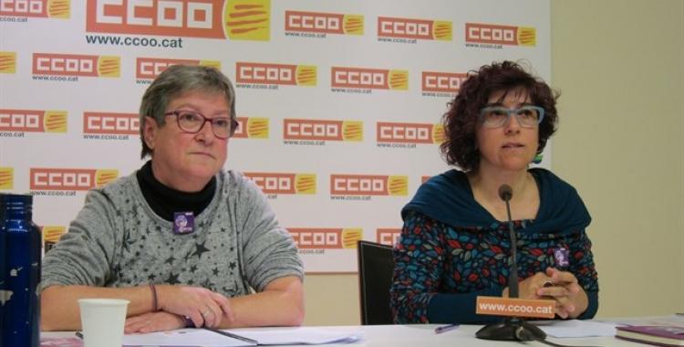 CCOO va presentar ahir les dades de la bretxa salarial del 2015/ Cedida