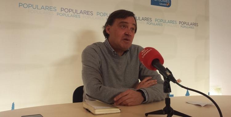 Esteban Gesa a la seu del PP | Roger Benet