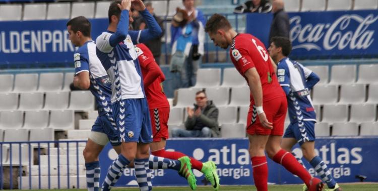 Arturo lamenta una de les moltes ocasions fallades pel Sabadell | Sandra Dihör