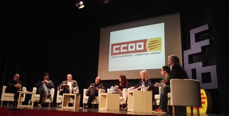 Els ponents durant l'acte sobre pensions de CCOO | CCOO