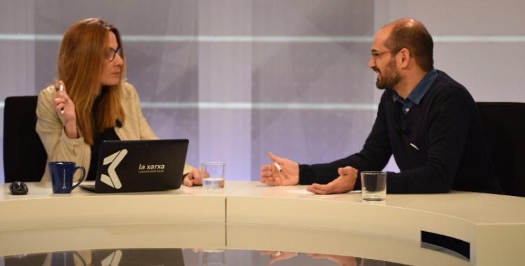 L'alcalde de Sabadell, Maties Serracant, ha estat entrevistat per Mònica Hernàndez a la Xarxa. Foto: Roger Benet