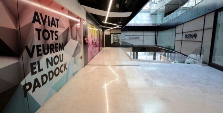 Imatge de l'interior del Paddock i del local on s'ubicarà la nova botiga Mango | Roger Benet