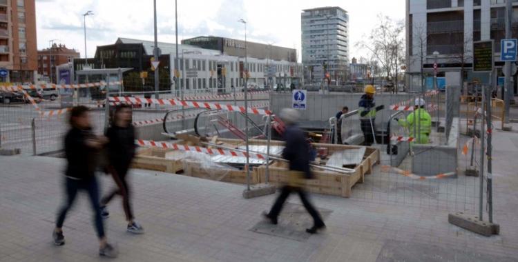 Imatge de l'accés, encara per acabar, a la nova estació Sabadell Centre de Rodalies | Roger Benet