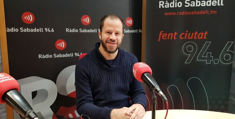 Dani Vilaró als estudis de Ràdio Sabadell   Foto: Raquel García
