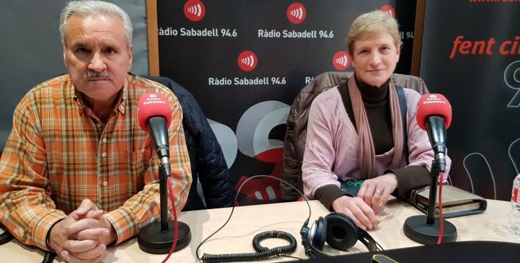 Antonio Carballo i Conxita Membrives, a Ràdio Sabadell/ Raquel Garcia