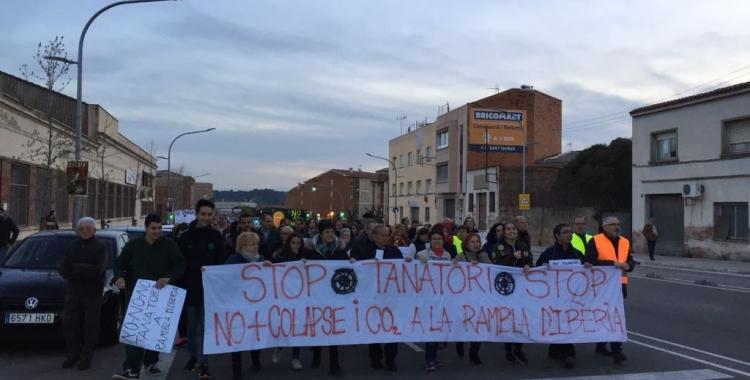 Imatge de la marxa per la Rambla Ibèria | Ràdio Sabadell