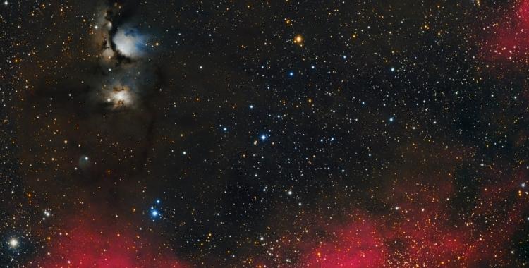 Una fotografía del camp d'M78 de la constel·lació d'Orió feta des d'Àger | Manel Martín