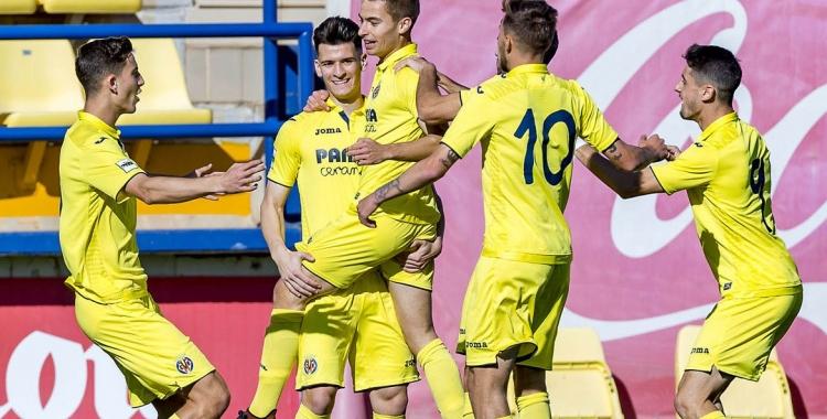 Franquesa celebrant el seu gol contra l'Ontinyent | Twitter