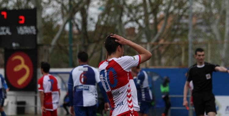Pedro Capó lamenta una de les oportunitats que va tenir ahir el Sabadell a Saragossa   Sandra Dihör