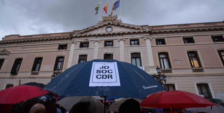La plaça Sant Roc durant la concentració | Roger Benet