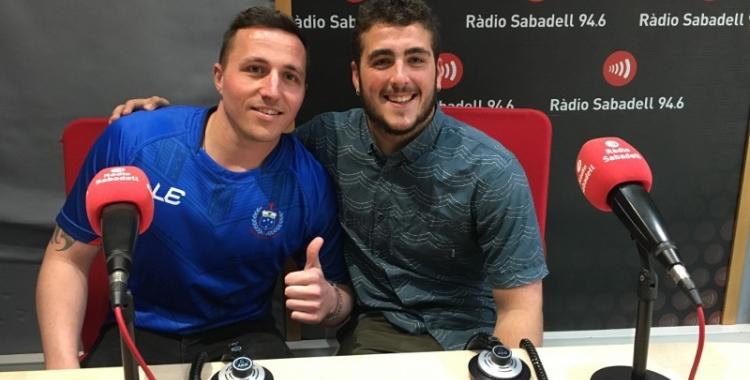 Rich Antzack i Josu Quintana, als estudis de Ràdio Sabadell | Marc Pijuan