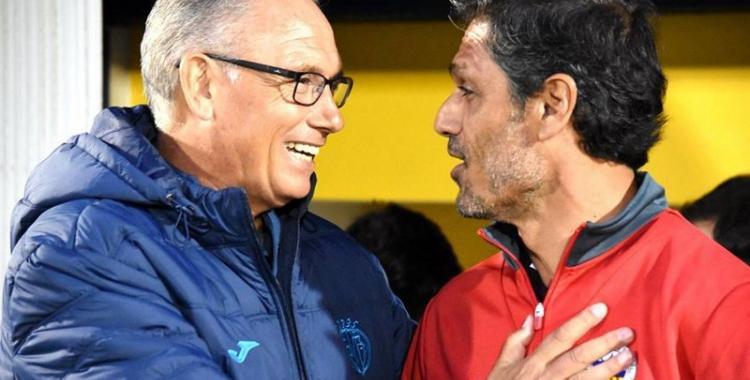 Miguel Álvarez i Toni Seligrat, a la prèvia del partit jugat a Villarreal | Crispulo D.