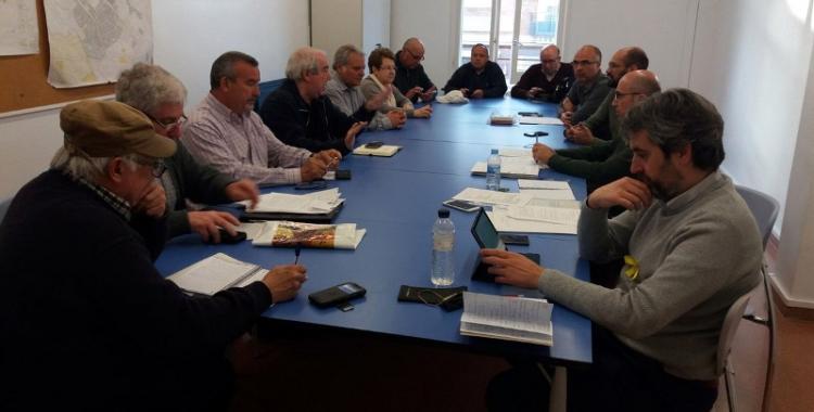 Imatge de la trobada entre els representants municipals i la Comissió del Parc del Nord