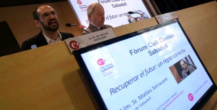 Maties Serracant i el president de la Cambra de Comerç, Antoni Maria Brunet | Roger Benet