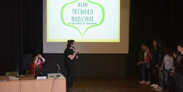 Rbèn Ramiro durant la presentació de la 43a Trobada Nacional de Bastoners | Roger Benet