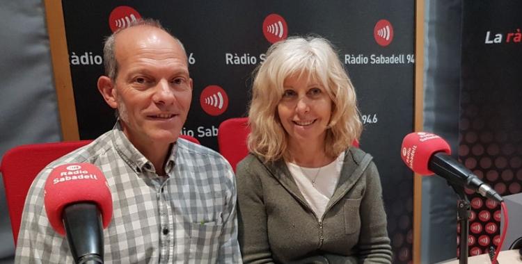 Garcia i Coret, als estudis de Ràdio Sabadell/ Raquel Garcia
