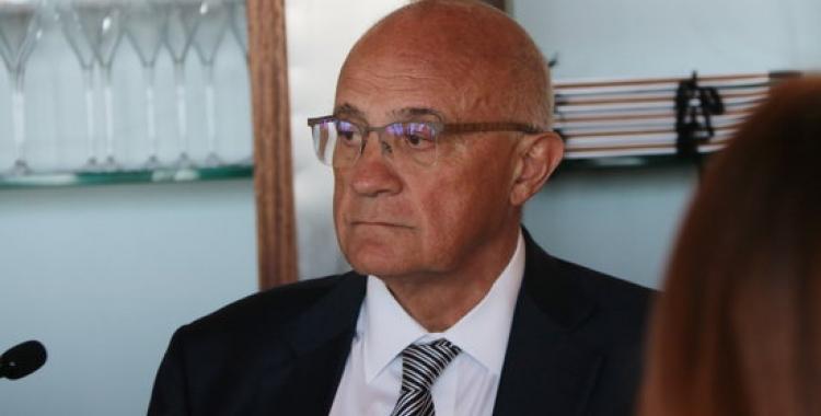 Josep Oliu, després del dinar previ amb els mitjans a Alacant/ ACN