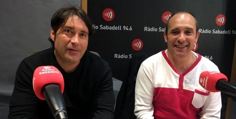Enrique Rodríguez (CCOO) i José Luis Fernández (UGT) | Mireia Sans