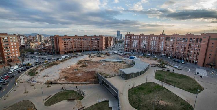 Imatge de la plaça Espanya en obres | Roger Benet