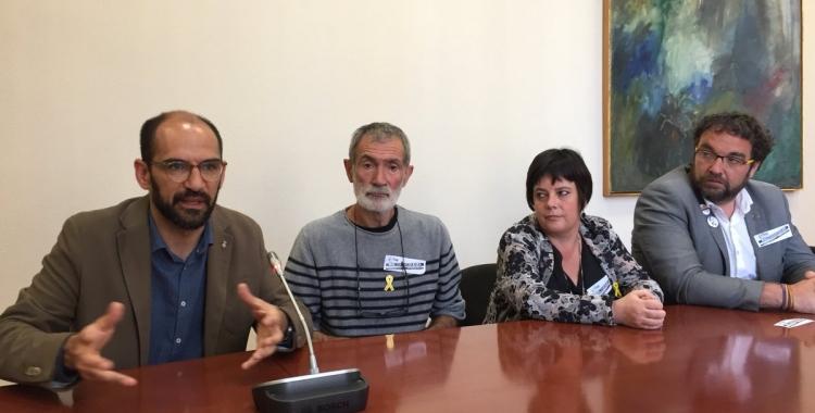 Serracant, Ramírez, Goikoetxea i Fernàndez durant la recepció   Ràdio Sabadell