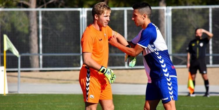 Romans Carrillo i Sergi Estrada, dos dels jugadors més importants del filial del Sabadell | Arxiu RS
