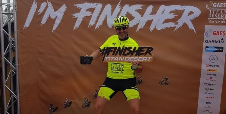 Santi Ramos a la meta de l'última etapa de la Titan | Cedida