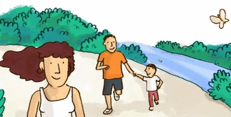 Imatge del cartell del programa Caminar en família