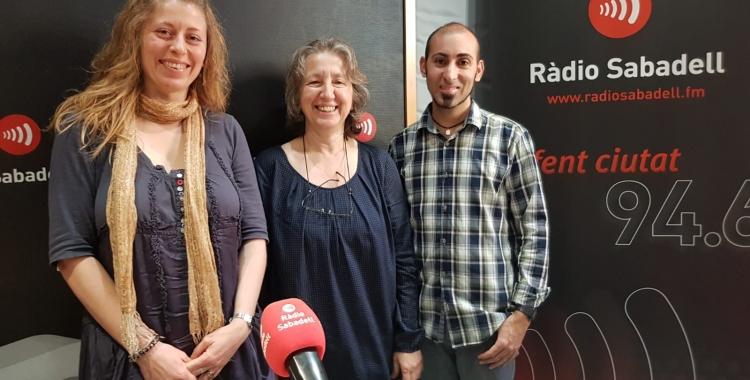 Marta Fuentes, Imma Tort i Dani Gonzàlez als estudis de Ràdio Sabadell | Raquel García
